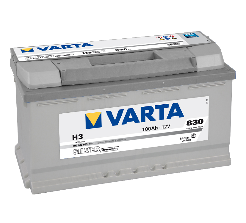 Autobaterie 12V/100Ah VARTA Silver dynamic