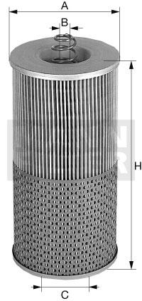 Filtr olej.H12110/2X