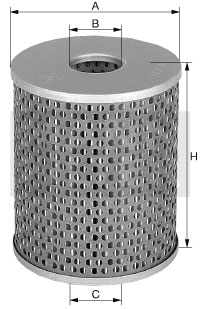 Filtr olej.H1282x
