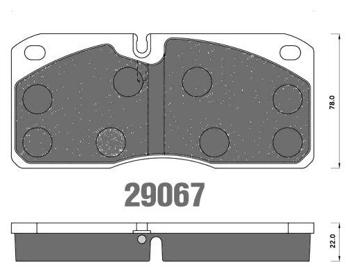 Brzdové destičky FCV 733 IVECO 29067