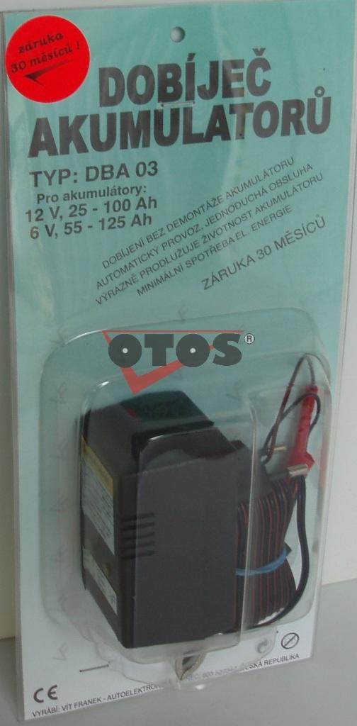 Dobíječ akumulátorů DBA03 12V