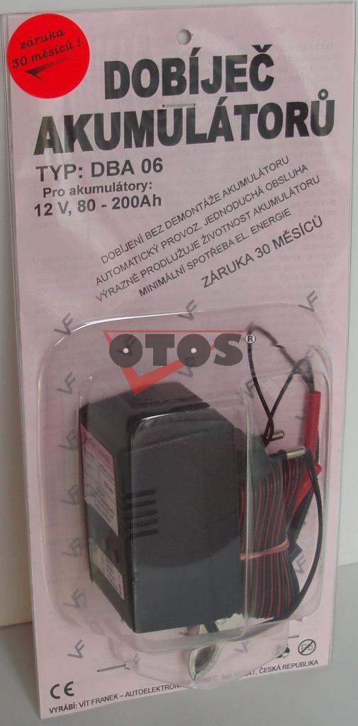Dobíječ akumulátorů DBA06 12V